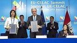 видео 1 мин. 8 сек. Саммит ЕС-Латинская Америка: не все довольны сотрудничеством раздел: Новости, политика добавлено: 12 июня 2015