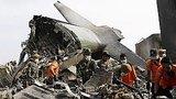 видео 53 сек. Индонезия: на месте катастрофы самолета