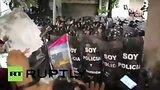 видео 53 сек. В Эквадоре антиправительственный митинг закончился столкновениями с полицией раздел: Новости, политика добавлено: 3 июля 2015