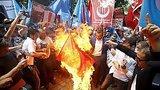 видео 56 сек. Турция: акции протесты против притеснений уйгуров в Китае раздел: Новости, политика добавлено: 6 июля 2015