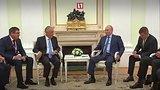 видео 1 мин. 16 сек. Путин и президент Португалии о матче двух сборных раздел: Новости, политика добавлено: 20 июня 2018