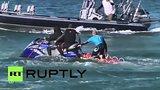 видео 58 сек. Серфингист подрался с напавшей на него акулой раздел: Новости, политика добавлено: 20 июля 2015