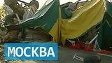 видео 38 сек. На Ленинградском шоссе столкнулись четыре фуры и легковой автомобиль, погибли двое раздел: Новости, политика добавлено: 22 июля 2015