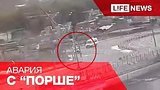 видео 19 сек. Авария с «Порше», зависнувшим над обрывом в Москве, попала на видео раздел: Новости, политика добавлено: 8 августа 2015