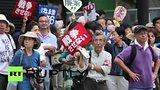 видео 1 мин. 26 сек. Японцы выступили против использования армии за рубежом раздел: Новости, политика добавлено: 16 сентября 2015