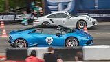 видео 52 сек. Lamborghini Huracan (stock) vs Porsche 991 Turbo S (stock) раздел: Авто, мото добавлено: 12 июня 2015